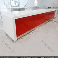 Kingkonree solid surface shop counter design kingkonree for International decor surfaces