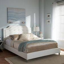 Wholesale furniture: Baxton Studio Carlotta Modern White Faux Leather Platform Bed Furniture