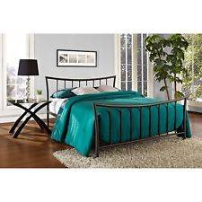 Wholesale metal bed: Bronze Metal Platform Bed Frame Full Size Bedroom Furniture Steel