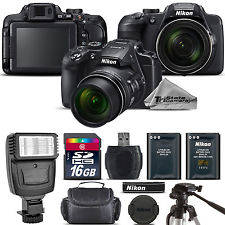 Wholesale Digital Cameras: Nikon COOLPIX B700 Digital 20.2MP 4K Video WiFi NFC Camera 60x Zoom - 16GB Kit Camera