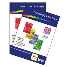Wholesale gsm: 100 Sheets of A4 120gsm High Quality Glossy Photo Paper for Inkjet Printers