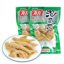 Wholesale snack: 10X100g Chinese Spicy Chicken Feet Pickled Pepper Snack Food Vacuum Packed