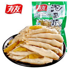 Wholesale pickles: 5 PCS X 100g Chinese Food Spicy Chicken Feet with Pickled Peppers Vacuum-packed