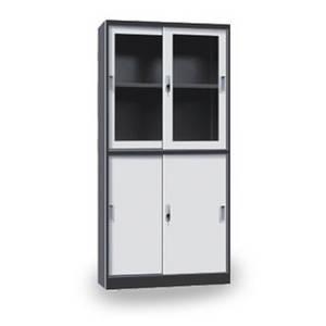 Wholesale glass cabinet: Metal Furniture Sliding Glass Door Double Layer Filing Cupboard Office Steel Cabinet