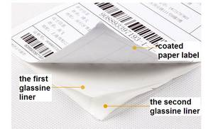 Wholesale adhesive paper: Self-adhesive Paper Label with Double Glassine Liners