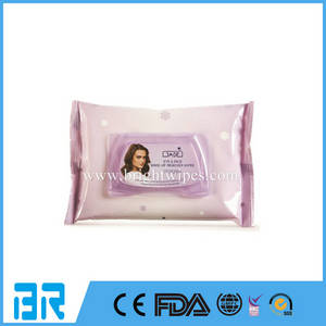 Wholesale disposable wipes: Customized Feminine Refreshing Facial Make Up Remover Wipes