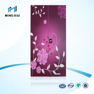 Wholesale steel door: Mingxiu Office Furniture 2 Steel Swing Door Cabinet / Two Doors Metal Wardrobe