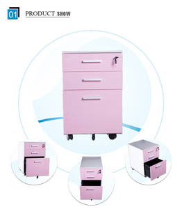 Wholesale file: Luoyang Mingxiu Office Furniture 3 Drawer Vertical File Cabinet / Iron Filing Cabinet