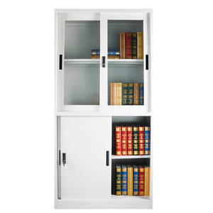 Wholesale glass cabinet: High Quality Customized Sliding Glass Door Display Cabinet for File