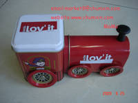 Train-shaped Gift Tin Box
