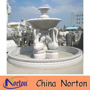 Wholesale Garden Ornaments & Water Features: Garden Large White Marble Swan Fountain