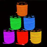 LED Strip Light Neon Flex Soft Neon Light 50m/Lot 80 LED/M Flexible Neon Strip Neon Rope Lights