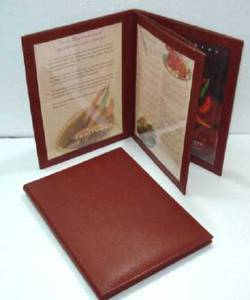 Wholesale Badge Holder & Accessories: Genuine Leather Menu Holder for Restaurant, Hotel, Cafeteria