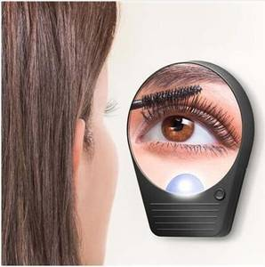 Wholesale led light makeup mirror: 10x Magnifying Suction Cup Mirror with Light Bulbs Portable for Making Up