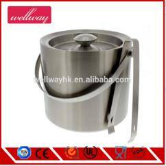 Wholesale Ice Buckets: Stainless Steel Ice Bucket with Tongs Set