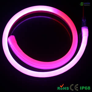 Wholesale led neon flex tube: IC Digital Flexible Neon Rope with RGB Controller