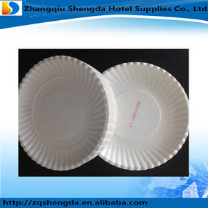 Wholesale paper plate: Disposable Inch White Round Paper Plate