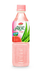 Wholesale beverage: Fruit Juice Aloe Vera Drink with Guava Flavour