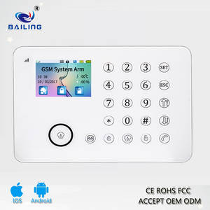Wholesale alarm system: APP 6 Language TFT Touch Keypad PSTN+GSM Alarm System Door Home Security Alarm System BL-911
