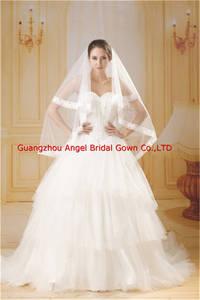 Wholesale wedding gown: Beautiful Ball Gown Chiffon Wedding Dress of Beading Decoration