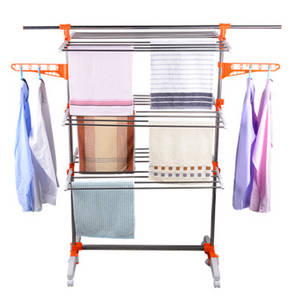 Wholesale Hangers & Racks: 3 Layer Stainless Steel Folding Clothes Drying Rack