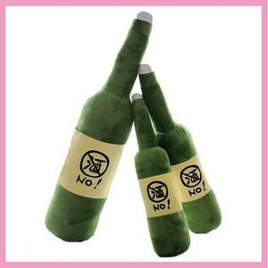Wholesale stuffed pillows: OEM Beer Bottle Shaped  Pillow  Stuffed Toys