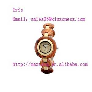 Wholesale wooden box: Promotional Gift Wooden Watch Japan Movement Wood Box Watch Wooden Watch for Girlfriend