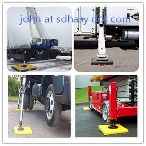 Wholesale engine protect: Engineering Plastic Crane Outrigger Pads Protection Leg