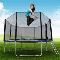 Sell Paypal Ok, TRAMPOLINE WITH SAFETY NET RAIN COVER LADDER NEW
