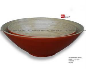 Wholesale salad bowl: Spun Bamboo Salad Bowl, Bamboo Lacquer Bowl