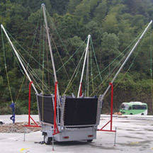 Wholesale Bungee: 4 Persons Square Trampoline Bungee with Trailer