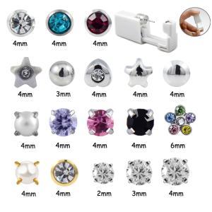 Wholesale Earrings: 2016 Best Selling Disposable Ear Piercing Gun+Silver,Zircon Rose Earring