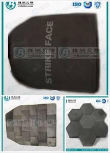 Wholesale ceramic tile: Silicon Carbide Bulletproof Ceramic Plate/ SiC Ceramic Bulletproof Tile NIJ  IV Level