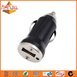 Wholesale usb car charger: Bullet Shape 5V1A USB Mini Car Charger for Digital Products