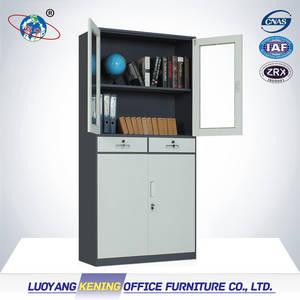 Wholesale steel door: Glass Door Steel Locker with Drawer