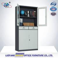 Glass Door Steel Locker with Drawer