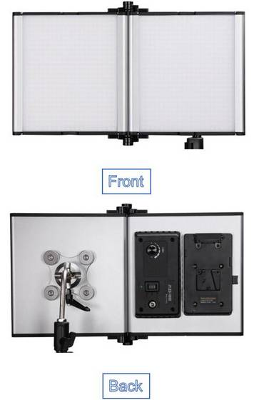 led panel: Sell Foldable 5600k television led professional studio light panel kit