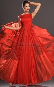 Wholesale wedding dresses: Bateau Neckline Long Velvet Chiffon Red Bridesmaid Dress