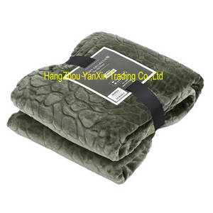 Wholesale blankets: Hot Sales Polyester Emboss  Flannel Throw Blanket