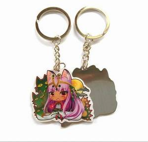 Wholesale Key Chains: Printing Your Logo Stainless Steel Epoxy Coating Keychain