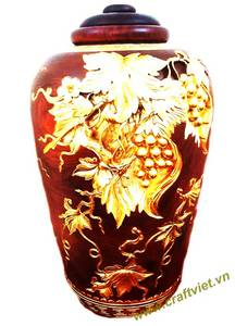 Wholesale gift: Wooden Jar with Gold Sheet