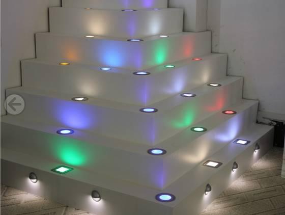 led decking light stair light floor light seven colors