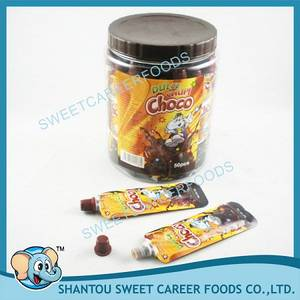 Wholesale chocolate: Squeeze Liquid Chocolate Jam with Popping Candy
