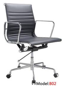 Wholesale office chair: Office Aluminium Red Leather Manager Chair (RFT-B02)