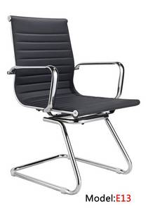Wholesale white board: Office Leather Hotel Visitor Meeting Chair(E13)