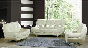 Wholesale furniture: Popular Comfortable Living Room Furniture White Leather Sectional Sofa (877)