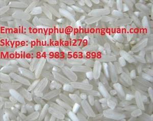 Wholesale quan: High Quality-Newest Crop Vietnamese Long Grain White Rice 25% Broken-PHUONG QUAN