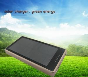 Wholesale mobile solar charger: Solar Power Bank 10000mah Portable Mobile Charger