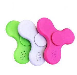 Wholesale toy: 2017 Hot Selling Plastic Fidget Toy LED Light Hand Spinner Bluetooth Speaker