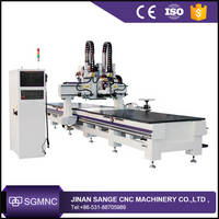 Automatic Loading and Unloading CNC Nesting Machine , Wood Cutting CNC Router for Kitchen or Arcade